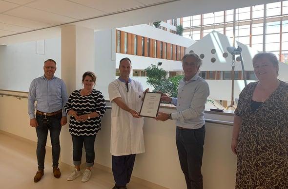 MST Enschede team receiving certificate after completing ERAS® Implementation Program